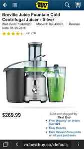 BRAND NEW Breville Fountain Cold Centrifugal Juicer