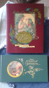 Fairy Journal, Book and Handmade Paper Journal w/ metal emblem