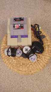 Supernintendo with 2 games