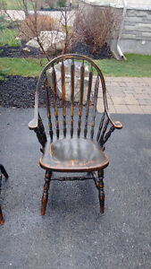 Set of country style wooden chairs