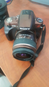 Sony camera A330 (bronze) DSLR + 18-55 lens $100