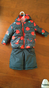 Girls 3-6M Winter jacket and snow pants