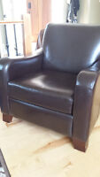Choc Brown Leather Chair