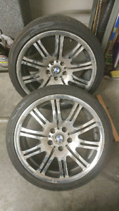 """OEM bmw E46 M3 19"""" wheels and tires"""