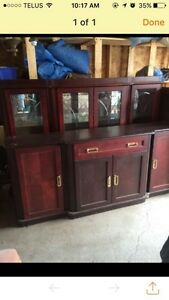 VINTAGE CHINA CABINET / HUTCH AND BUFFET