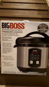 BIGBOSS Stainless Steel Pressure Cooker 900W 5qt