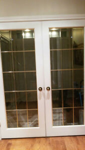 French Doors with Brass inserts