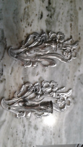 Seagull pewter candle holders sconces
