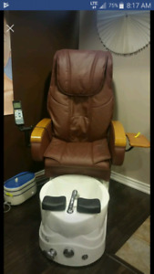 Pedicure with massage chair