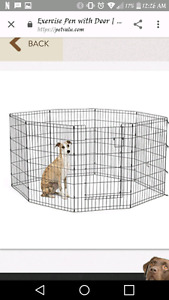 Like new dog kennel. Used less than 1 month. Paid 110 +tax.