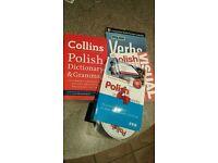 Polish textbooks and dictionary