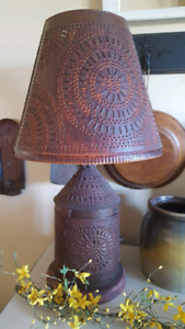 Irvins punched tin lamp