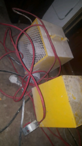 2 Industrial heaters- power cords included.