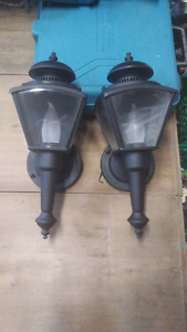 Vintage Matte Black Wall Sconces