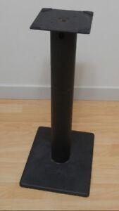 """Black Metal 23"""" Speaker Stands - 2 Pairs"""