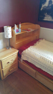 Birch Bedroom 3-Piece Furniture Set $550 OR BEST OFFER