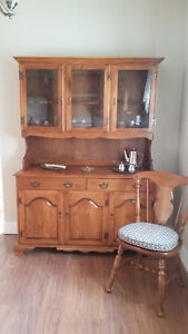 Maple Roxton hutch and buffet