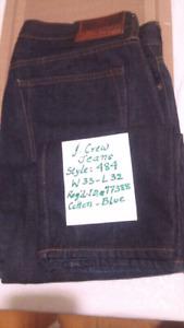 J. Crew 484 Slim fit Cotton Denim Jeans. W-33. L-32. Brand New