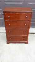 Solid maple 4 drawer dresser