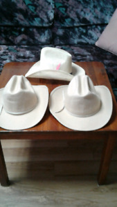 3  COWBOY HATS AND PR  COWBOY BOOTS