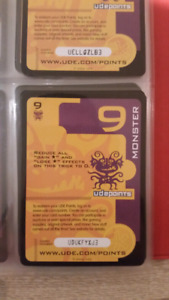 Ude Brown(pirate) & Purple(monster) point cards