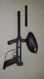 Tippman 98 Custom paintball marker /hopper/ extra Barrel