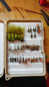 Bass and trout flies