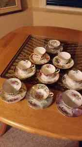 MOVING-  12 tea cup sets, china, glasses, stainless steel kettle