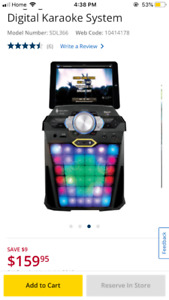 Karaoke machine (Bluetooth) - Vibe 100$