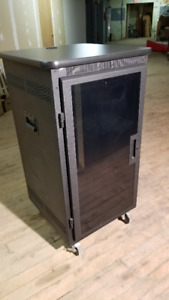 PORTABLE ROLLING A/V RACK for BOARDROOM or STUDIO