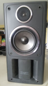 2 book  shelf speakers JVC in very good condition
