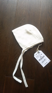brand new with tags Zara Baby light ecru bonnet 6-12 months