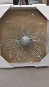 Silver Decorative Wall Flowers
