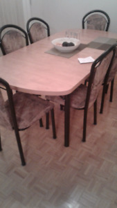 Strong Wooden Dining Table and Chairs NEGOTIABLE