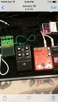 Pedals, amp and pickups for guitar