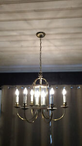 2 Matching Chandeliers (larger & smaller) with LED bulbs