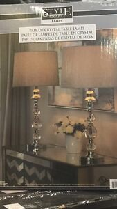 Brand new crystal table lamps