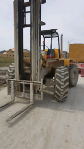 Bricklayers forklift and Scaffold