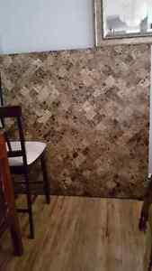 Large Square Pub Height Marble Table