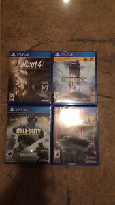 PS4 games ***MINT CONDITION***