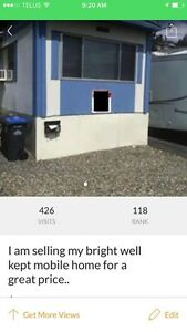 Selling my mobile home in Williams lake, B.C. .