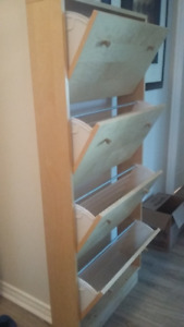 Shoe cabinet - four sections