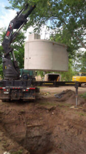 cistern 3200 gallons concrete,2 years old ,in mint shape
