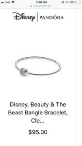 Limited edition pandora bracelet with charms