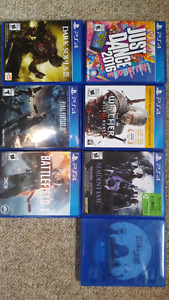 Assorted PS4 games 10 - 30 dollars
