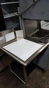 Clean dish table for Commercial dishwasher  - All stainless steel sink and table