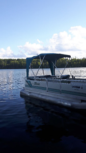 20 ft. Pontoon Boat w/ trailer and storage cover
