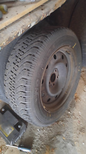 HI MOVING I HAVE A SET OF MUD AND SNOW TIRES $100 FIRM
