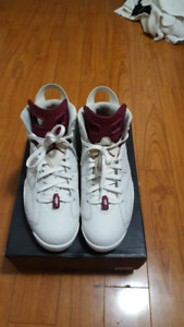 "Air Jordan Retro 6 ""Maroon"" Size 12"