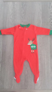 1 piece  reindeer fleece Carter's pijama